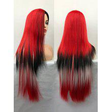 Ultra Long Center Parting Straight Colormix Cosplay Synthetic Wig