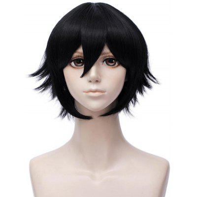 Short Side Bang Straight Anime Aotu World Camil Cosplay Synthetic Wig