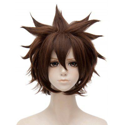 Anime Aotu World Anmicius Cosplay Short Side Bang Tail Outside Straight Synthetic Wig