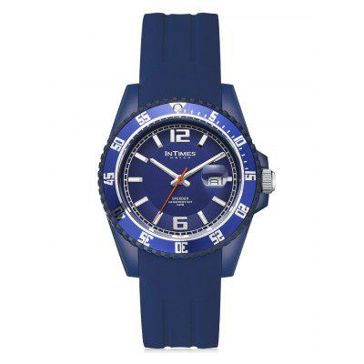 InTimes Plastic Case Silicone Strap Quartz Watch