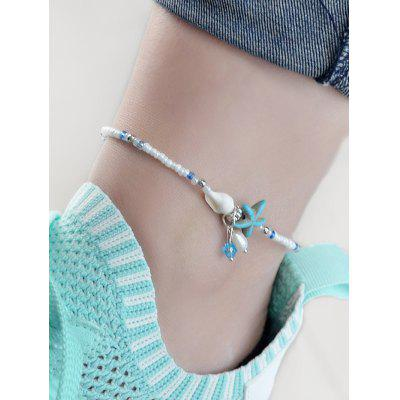 Beads Starfish Shell Faux Pearl Decoration Anklets