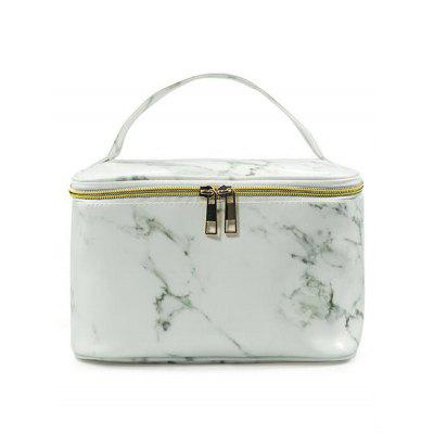 Portable Marble Pattern Makeup Organizer Cosmetic Case