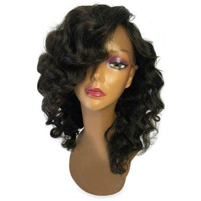 Medium Inclined Bang Body Wave Lace Front Synthetic Wig