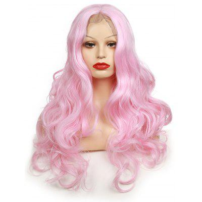 Long Center Parting Body Wave Lace Front Party Synthetic Wig