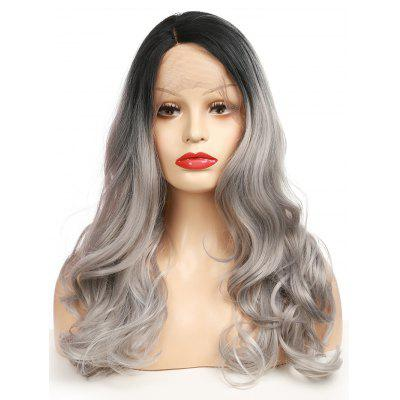 Long Side Parting Gradient Wavy Synthetic Lace Front Wig