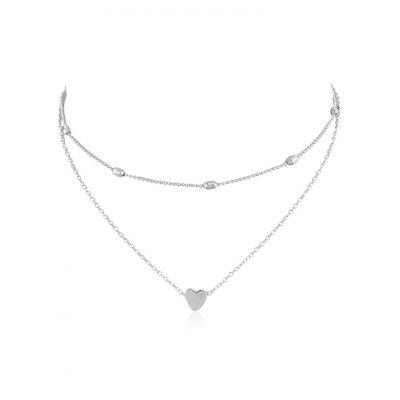 Heart Shape Design Layered Necklace