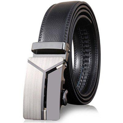 ZHAXIN Men Polished Business Casual Belt with Automatic Buckle