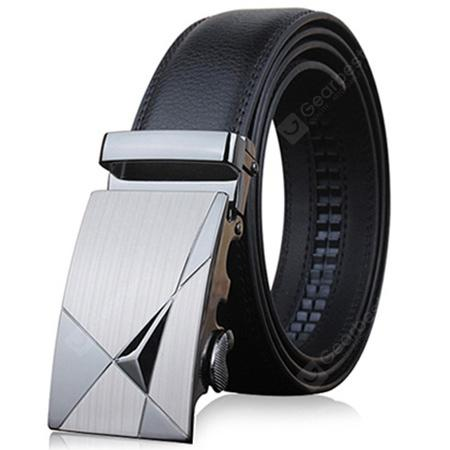 ZHAXIN Men Textured Leather Belt with Automatic Buckle