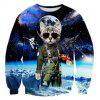 Creative Cat Sheriff into Space 3D Printed Graphic Sweatshirts - COLORMIX