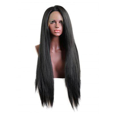 Free Part Straight Long Lace Front Synthetic Wig