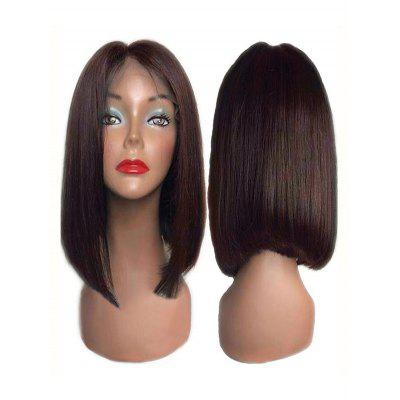 Center Parting Short Straight Bob Synthetic Lace Front Wig