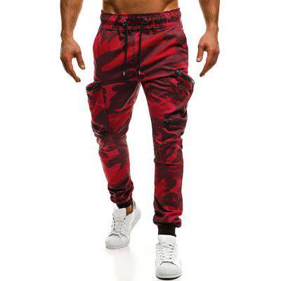 Camouflage Print Pockets Cargo Jogger Pants