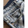 Tie Dye Zip Fly Straight Leg Jeans - COLORMIX