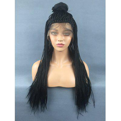 Long Free Part Twist Braids Lace Front Synthetic Wig