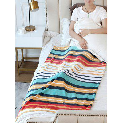 Striped Printed Flannel Soft Bed Blanket