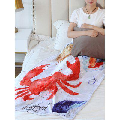 Crab Printed Flannel Soft Bed Blanket