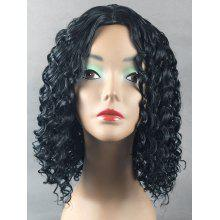 Center Parting Medium Curly Synthetic Wig