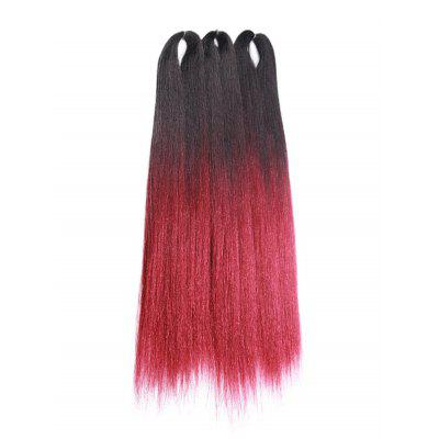 Long Gradient Straight Synthetic Hair Extensions
