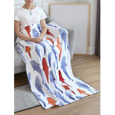 Fish Printed Flannel Soft Bed Blanket