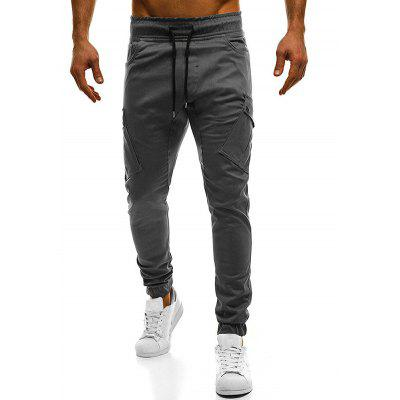 Drawstring Pockets Design Cargo Pants