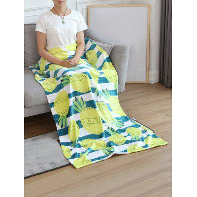 Pineapple Printed Flannel Soft Bed Blanket