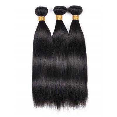 3Pcs Indian Virgin Straight Human Hair Weaves