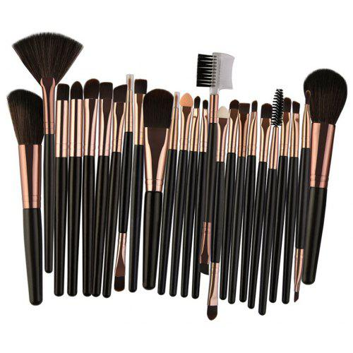 25Pcs Multifunctional High Quality Fiber Makeup Brushes Set