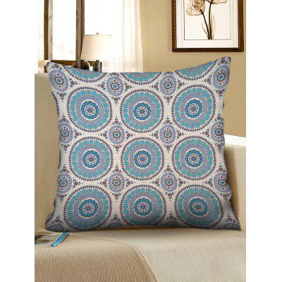 Bohemian Round Print Decorative Linen Pillowcase