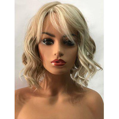 Short Side Bang Colormix Wavy Capless Synthetic Wig