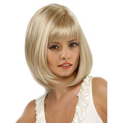 Full Bang Straight Medium Bob Synthetic Wig