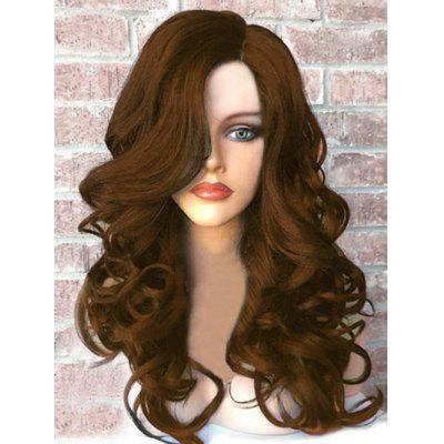 Long Side Part Fluffy Wavy Synthetic Wig