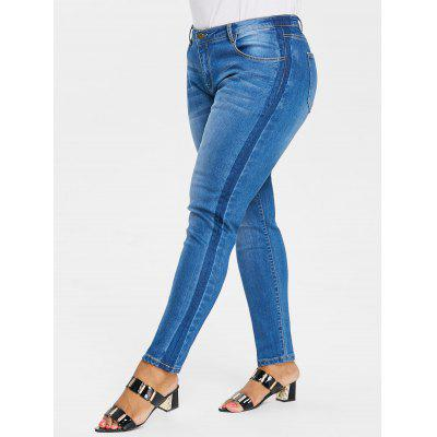 Pantaloni Aderenti In Denim Plus Size