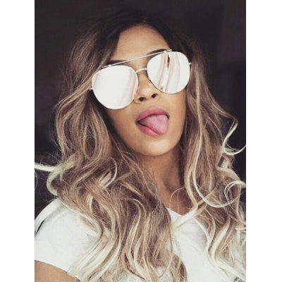 Long Side Bang Colormix Wavy Synthetic Wig