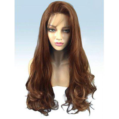Long Side Bang Wavy Party Lace Front Synthetic Wig