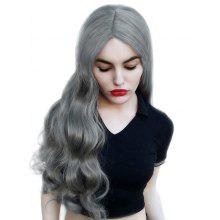 Long Center Parting Wavy Party Synthetic Cosplay Wig