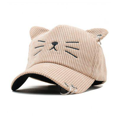 Kitty Pattern Rings Baseball Cap