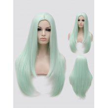 Long Center Parting Tail Adduction Straight Party Synthetic Wig