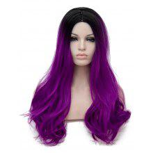 Long Center Parting Ombre Straight Party Cosplay Synthetic Wig