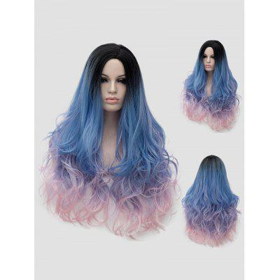 Long Side Parting Wavy Colorful Lolita Synthetic Wig