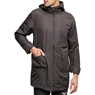 Pocket Full Zip Hooded Coat