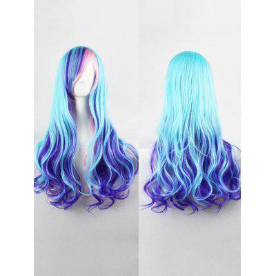 Long Colorful Side Bang Wavy Lolita Synthetic Wig