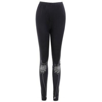 Spider Web Print Bodycon Leggings