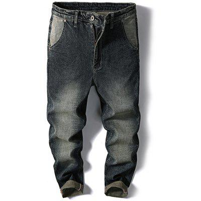 Casual Slim Fit Faded Jeans