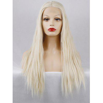 Long Center Parting Straight Lace Front Synthetic Party Wig