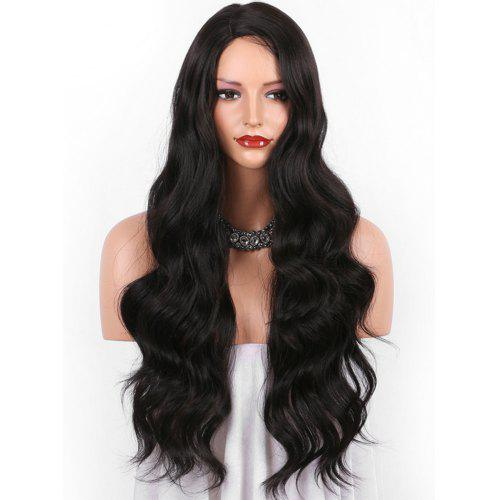 Long Side Parting Body Wave Party Synthetic Wig