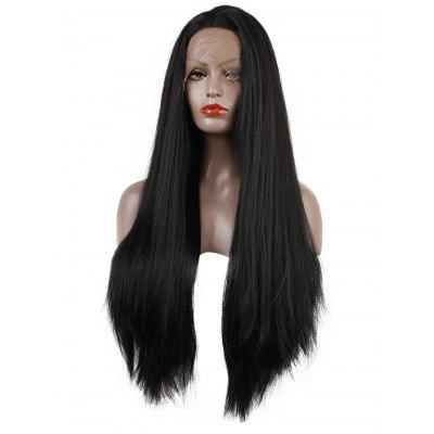 Long Synthetic Free Part Straight Lace Front Wig
