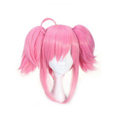 Short Side Bang Double Ponytails Straight Game Character Lux Cosplay Wig