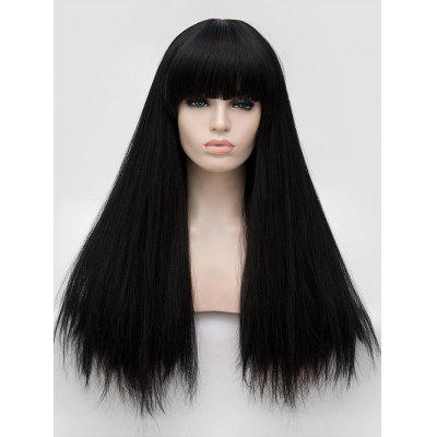 Full Bang Long Straight Party Synthetic Wig