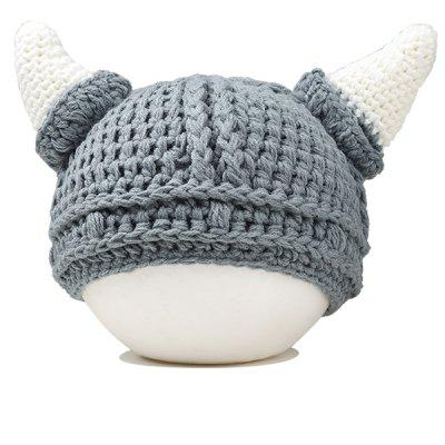 Cute Baby Ox Horn Knitted Beanie