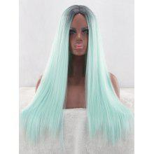 Center Parting Long Colormix Synthetic Wig